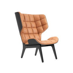 Mammoth Chair, Black / Vintage Leather Cognac 21000 | Armchairs | NORR11