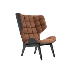 Mammoth Chair, Black / Vintage Leather Rust 21002 | Armchairs | NORR11