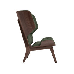 Mammoth Chair, Dark Stained / Wool: Forrest Green 053 | Sessel | NORR11