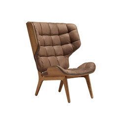 Mammoth Chair, Smoked Oak / Vintage Leather Dark Brown 21001 | Fauteuils | NORR11