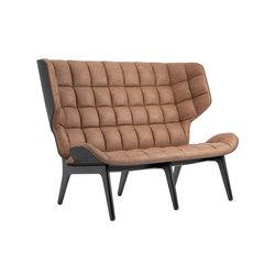 Mammoth Sofa, Black / Vintage Leather Camel 21004 | Sofas | NORR11