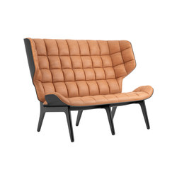 Mammoth Sofa, Black / Vintage Leather Cognac 21000 | Sofas | NORR11