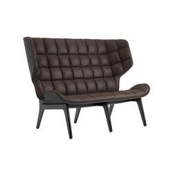 Mammoth Sofa, Black / Vintage Leather Dark Brown 21001 | Sofas | NORR11