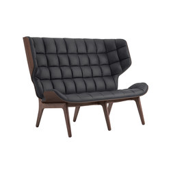 Mammoth Sofa, Dark Stained / Vintage Leather Anthracite 21003 | Sofás | NORR11