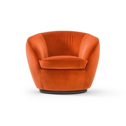 Giulia Swivel | Fauteuils | black tie
