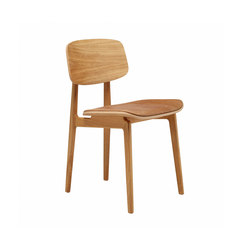 NY11 Dining Chair, Natural- Vintage Leather Camel | Sillas | NORR11