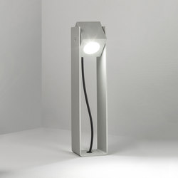 Cube XL | Tower 40cm 40° natural anodized | Outdoor wall lights | Dexter