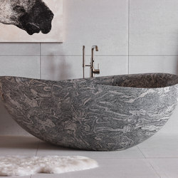 Papillon Bathtub, Cumulo Granite | Vasche | Stone Forest