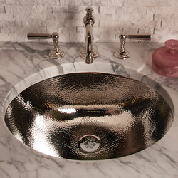 Stainless Steel Oval Bath Sink with Hammered Interior | Wash basins | Stone Forest