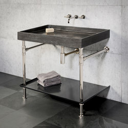Ventus Bath Console With Metal Tray | Lavabos | Stone Forest