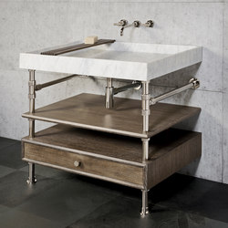 Ventus Bath Console With Storage | Wash basins | Stone Forest
