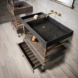 Ventus Bath Console With Storage | Lavabi | Stone Forest
