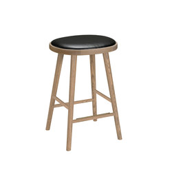 Colibri barstool 63cm oak grey, bonded leather black emb | Taburetes de bar | Hans K
