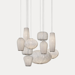 Coral composition CO04-10 | Suspended lights | a by arturo alvarez