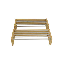 Enter shoestand metal 80cm oak oiled | Shelving | Hans K