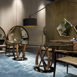 Infinity due basi piano cristallo - ovale | Tavoli pranzo | Porada
