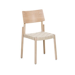 Flex chair Ash Blonde, linen webbing seat | Chairs | Hans K