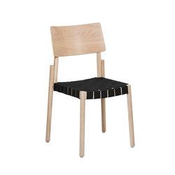 Flex chair Ash Blonde, black webbing seat   Sillas   Hans K
