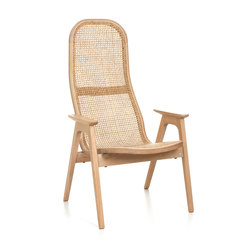 Racquet Armchair high oak blonde | Armchairs | Hans K