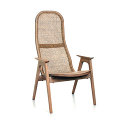 Racquet Armchair high oak oiled | Armchairs | Hans K