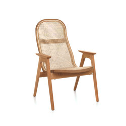 Racquet Armchair low oak oiled | Poltrone | Hans K