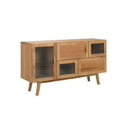 Rainbow sideboard 133cm oak oiled | Credenze | Hans K