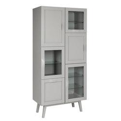 Rainbow vitrine grey | Display cabinets | Hans K