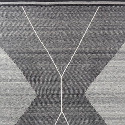 Crosshatch 303 | Black & White | Rugs | Miinu