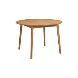 ZigZag table round 110(50)x110cm oak oiled | Mesas comedor | Hans K