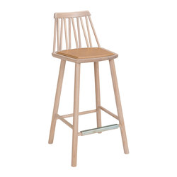 ZigZag barchair 63cm ash blonde | Bar stools | Hans K