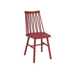 ZigZag chair ash dark red | Chairs | Hans K