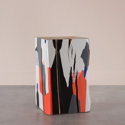 La Cueva Hand Painted Cube Table | Mesas auxiliares | Pfeifer Studio