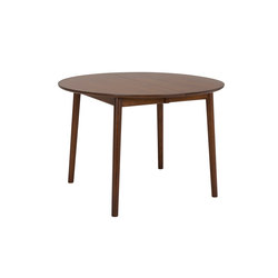 ZigZag table round 110(50)x110cm ash espresso | Mesas comedor | Hans K