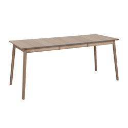 ZigZag table rect bf 127(53)x75cm ash grey | Tables de repas | Hans K
