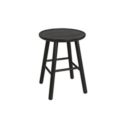 ZigZag stool 47cm ash black   Stools   Hans K