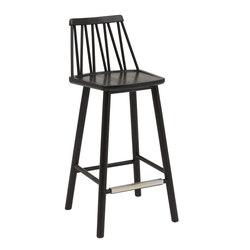 ZigZag barchair 63cm ash black | Bar stools | Hans K
