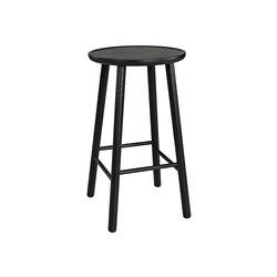 ZigZag barstool 63cm ash black | Bar stools | Hans K