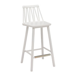 ZigZag barchair 63cm white   Bar stools   Hans K
