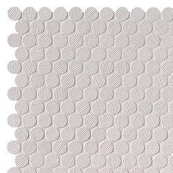 Milano&Wall Bianco Round Mosaico | Ceramic mosaics | Fap Ceramiche