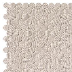 Milano&Wall Beige Round Mosaico | Ceramic mosaics | Fap Ceramiche