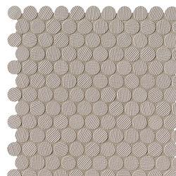 Milano&Wall Tortora Round Mosaico | Ceramic mosaics | Fap Ceramiche