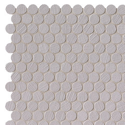 Milano&Wall Grigio Round Mosaico | Ceramic mosaics | Fap Ceramiche