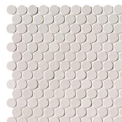 Milano&Floor Bianco Round Mosaico Matt | Ceramic mosaics | Fap Ceramiche