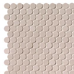 Milano&Floor Beige Round Mosaico Matt | Ceramic mosaics | Fap Ceramiche