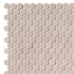 Milano&Floor Beige Round Mosaico Matt | Keramik Mosaike | Fap Ceramiche