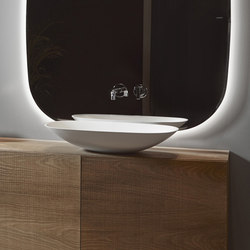 Forma Top Mounted Solidsurface H15 L60 Washbasin | Lavabi | Inbani