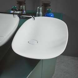Forma Top Mounted Solidsurface H15 L90 Washbasin | Lavabi | Inbani