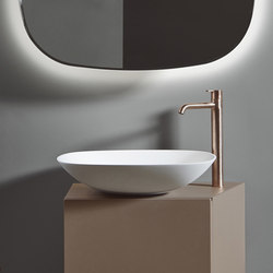 Forma Top Mounted Solidsurface L50 Washbasin | Wash basins | Inbani
