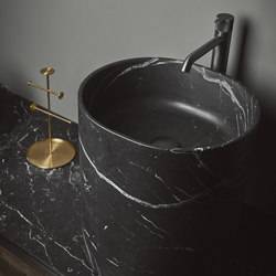 Giro Top Mounted Black Marquina Marble H45 Washbasins | Waschtische | Inbani