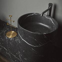 Giro Top Mounted Black Marquina Marble H45 Washbasins | Lavabos | Inbani